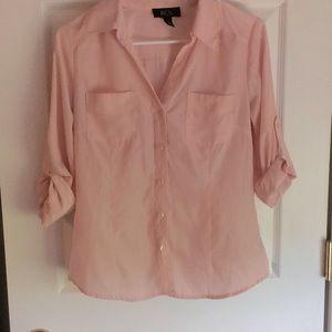 BCX button up dress Blouse. Medium. Pink
